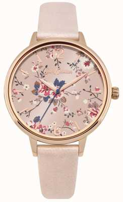 Cath Kidston Bracelet en PU rose perlé rose avec cadran floral CKL038CRG