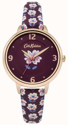Cath Kidston Montre prune à bracelet floral et prune CKL042RRG