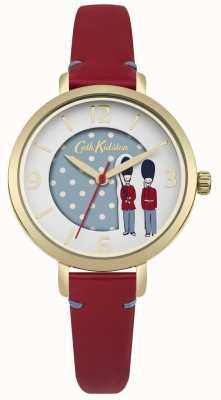 Cath Kidston Bracelet en cuir rouge cadran blanc CKL035RG