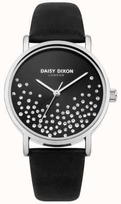 Daisy Dixon Cadran noir soleil bracelet noir avec des paillettes DD053BS