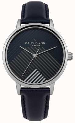 Daisy Dixon Bracelet bleu avec cadran rayé mat DD056US