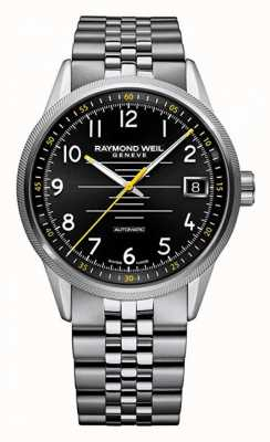 Raymond Weil Mens automatique freelancer bracelet en acier inoxydable 2754-ST-05200