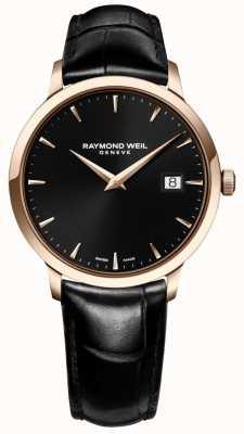 Raymond Weil Bracelet noir en cuir noir toccata noir 5488-PC5-20001