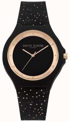 Daisy Dixon Bracelet en silicone noir et or rose DD031BRG