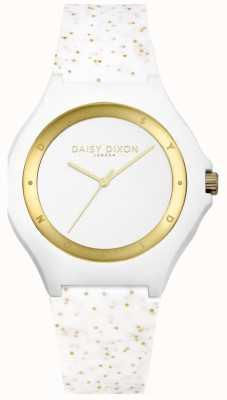 Daisy Dixon Bracelet en silicone blanc / or DD031WG