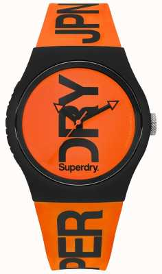 Superdry Bracelet orange en silicone orange SYG189OB