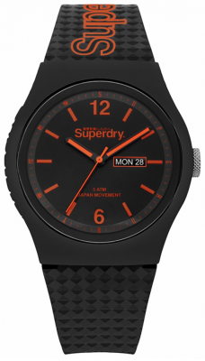 Superdry Bracelet noir en silicone noir SYG179OB