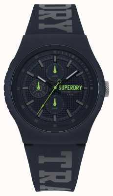 Superdry Bracelet en silicone bleu imprimé noir SYG188UU