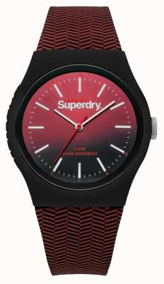 Superdry Bracelet rouge à noir à cadran dégradé rouge SYG184RB