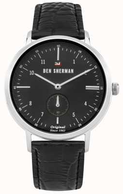 Ben Sherman Le dylan professional black cadran en cuir noir WBS102BB