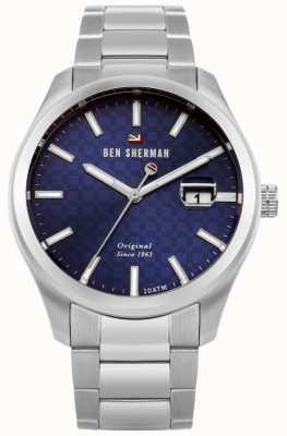 Ben Sherman Le bracelet professionnel en acier inoxydable ronnie cadran bleu WBS109BSM