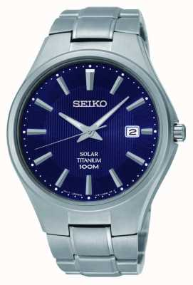 Seiko Cadran bleu titane affichage de la date SNE381P9