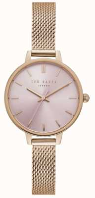 Ted Baker Womens ted boulanger rose cadran bracelet en or rose TE50070004