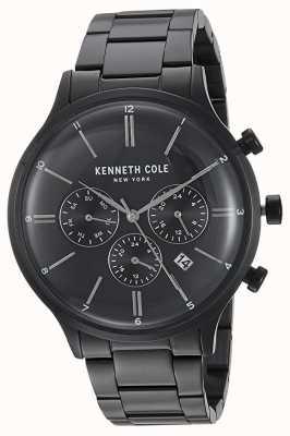 Kenneth Cole New York cadran noir en acier inoxydable noir date de l'affichage KC15177003