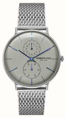 Kenneth Cole New york quartz gris cadran en acier inoxydable bracelet en maille KC15188002