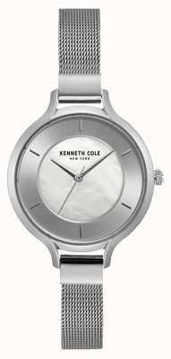 Kenneth Cole Womens new york argent boîtier en acier inoxydable bracelet en maille KC15187002