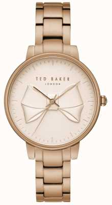 Ted Baker Womens brook champagne arc cadran en or rose en acier inoxydable TE15197002