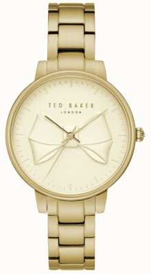 Ted Baker Womans brook or bow cadran pvd plaqué en acier inoxydable TE15197003