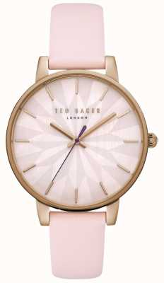 Ted Baker Womans kate rose étoile cadran en or rose bracelet en cuir rose TE15200001
