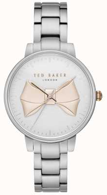 Ted Baker Womans brook or bow cadran argent bracelet en acier inoxydable TE15197004