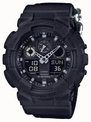 Casio Alarme chronographe G-shock blackout GA-100BBN-1AER