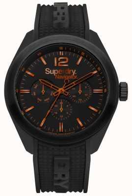 Superdry Navigator chic noir rehauts d'orange SYG215BB