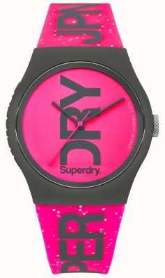 Superdry Womans urbain glitter bracelet rose vif et cadran SYL189PP