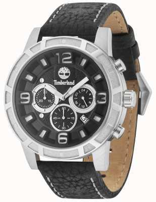 Timberland Maynard bracelet en cuir noir noir multi-cadran 15251JS/02