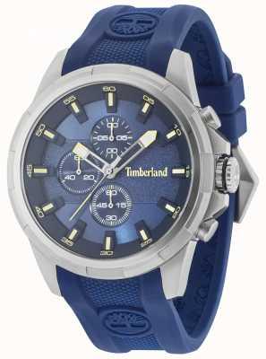 Timberland Sangle en silicone bleu Boxford, cadran bleu 15253JS/03P