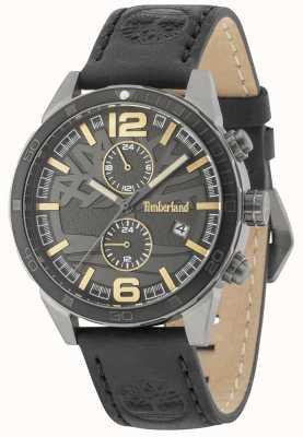 Timberland Sagamore cadran noir bracelet en cuir noir 15256JSUB/61