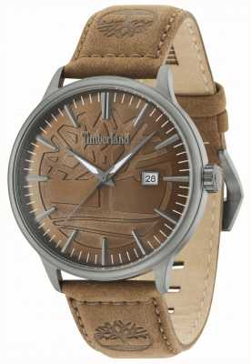 Timberland Edgemont cadran brun bracelet en cuir marron 15260JSU/12