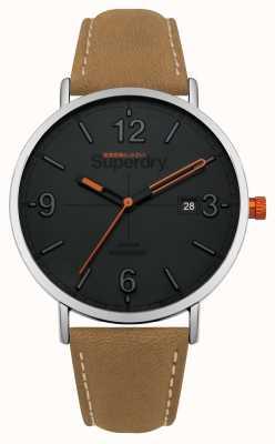 Superdry Bracelet en cuir marron clair SYG190T
