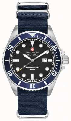 Swiss Military Hanowa Bracelet de lion de mer marine en nylon 6-4279.04.007.03