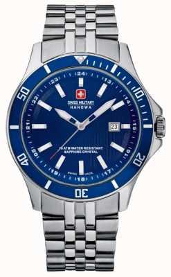 Swiss Military Hanowa Bracelet phare en acier inoxydable cadran bleu 6-5161.2.04.003