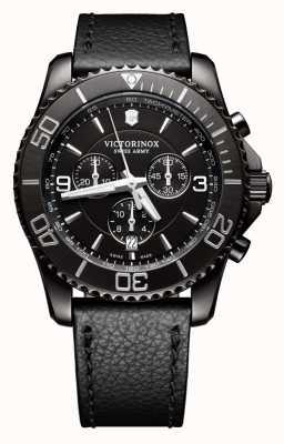 Victorinox Swiss Army Maverick chrono édition noire cadran noir bracelet en cuir noir 241786