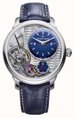 Maurice Lacroix Bracelet en cuir bleu 25e anniversaire Masterpiece Gravity MP6118-SS001-434-1