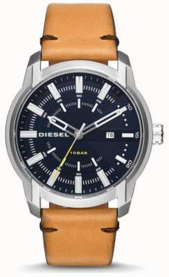 Diesel Bracelet en cuir brun clair pour homme DZ1847