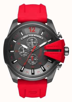 Diesel Mens mega chef bracelet en silicone rouge DZ4427