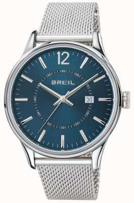 Breil Bracelet en acier inoxydable Contempo avec cadran bleu TW1560