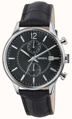 Breil Contempo chronographe en acier inoxydable cadran noir bracelet noir TW1572