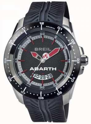 Breil Abarth en acier inoxydable ip cadran noir et rouge TW1486
