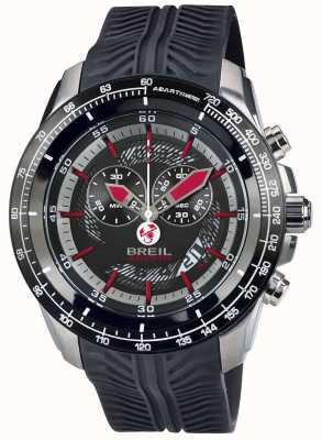 Breil Abarth chronographe en acier inoxydable ip cadran noir et rouge TW1488