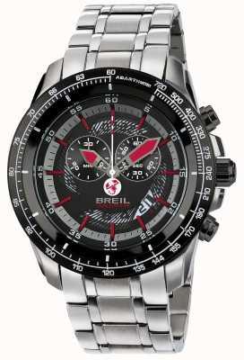 Breil Abarth chronographe en acier inoxydable ip cadran noir et rouge TW1491