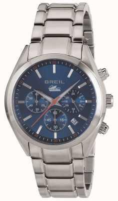 Breil Manta City en acier inoxydable chronographe cadran bleu bracelet TW1605