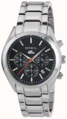 Breil Manta City chronographe en acier inoxydable cadran noir bracelet TW1606