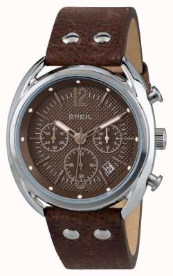 Breil Beaubourg chronographe en acier inoxydable mat cadran brun TW1663