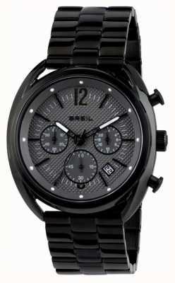 Breil Beaubourg acier inoxydable ip cadran noir chronographe gris TW1664