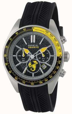Breil Abarth acier inoxydable ip noir chronographe noir & jaune TW1691