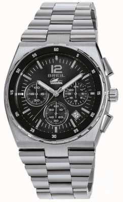 Breil Manta sport acier inoxydable chronographe cadran noir bracelet TW1639