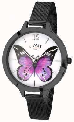 Limit Womens secret jardin noir maille papillon montre 6274.73